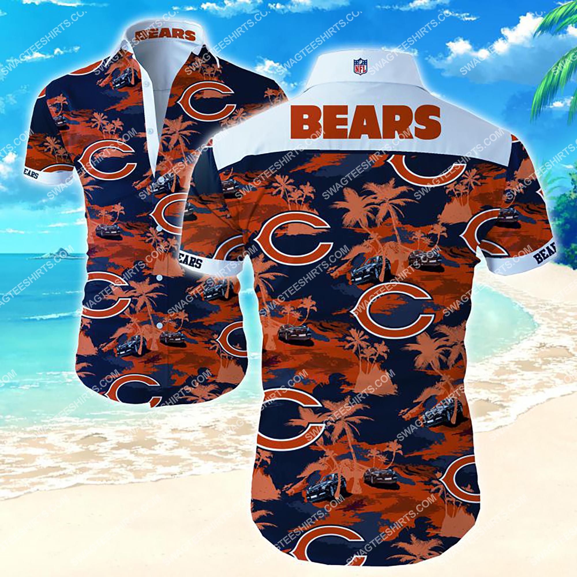 the chicago bears football team summer hawaiian shirt 2
