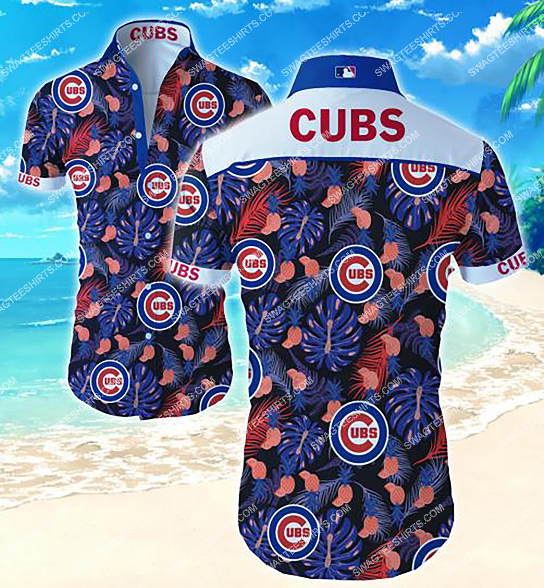 the chicago cubs team full print summer hawaiian shirt 2 - Copy (2)