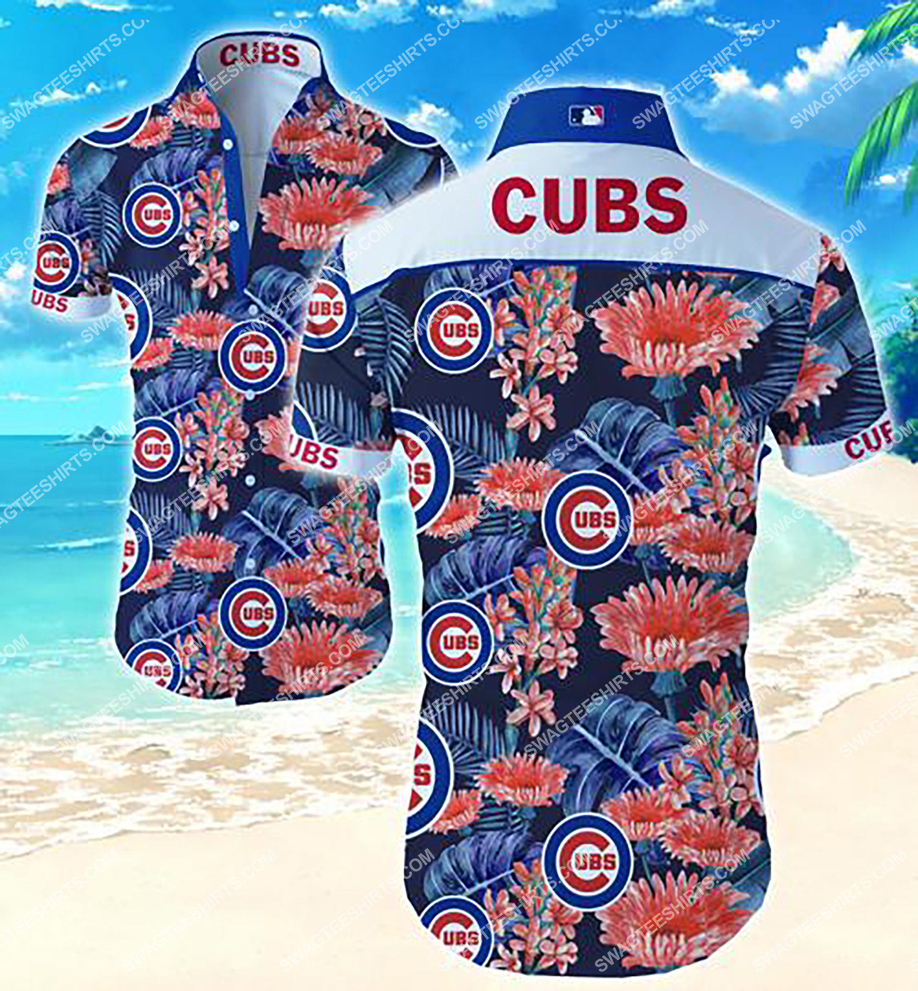 the chicago cubs team full printing summer hawaiian shirt 2