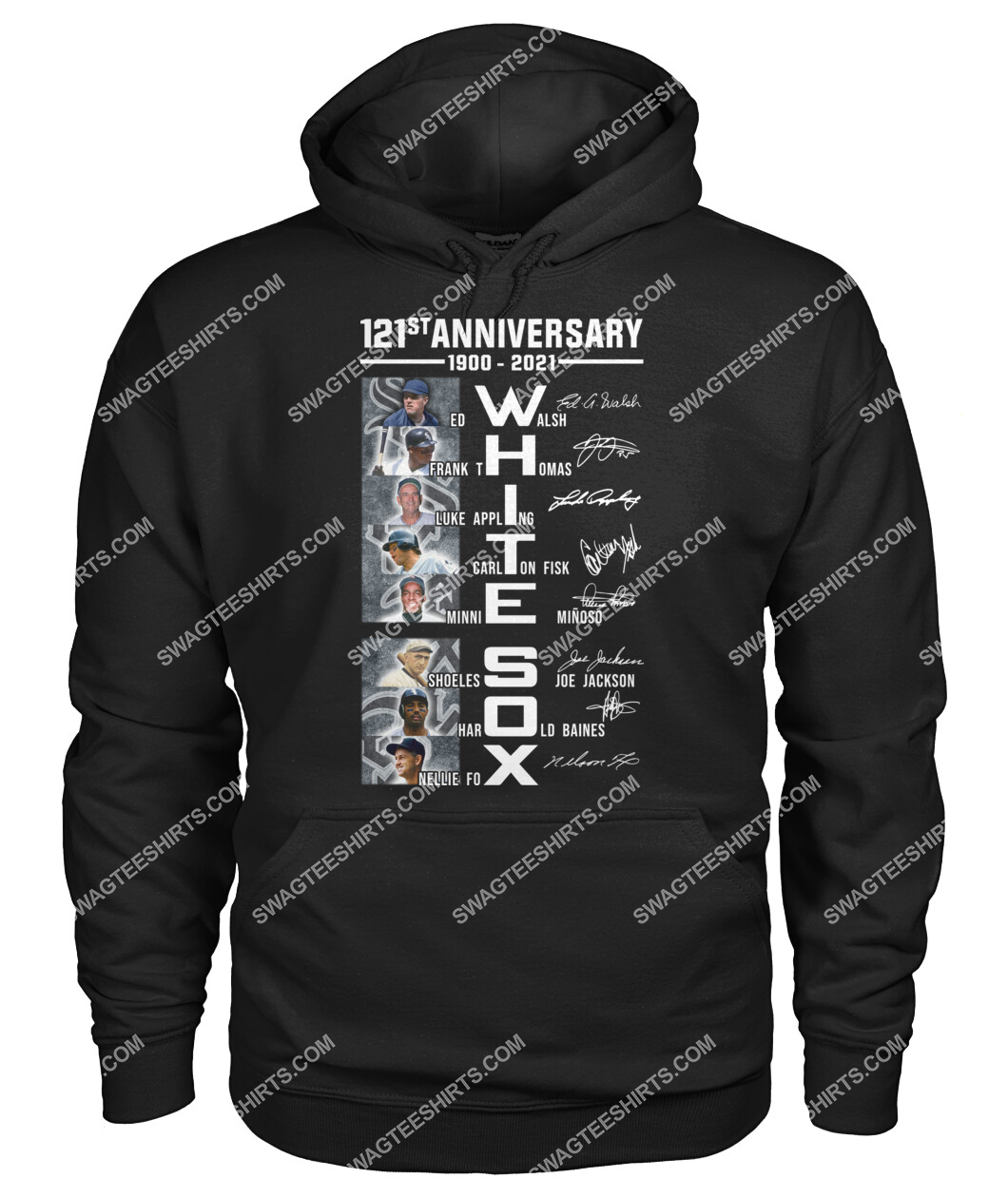 the chicago white sox 121st anniversary 1900 2021 signatures hoodie 1