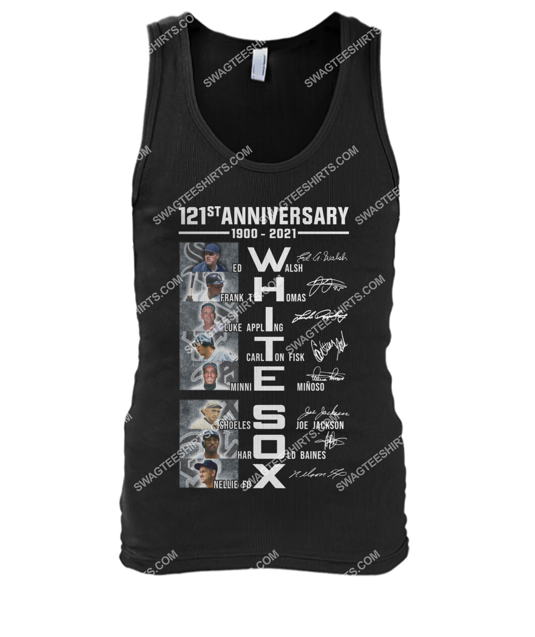 the chicago white sox 121st anniversary 1900 2021 signatures tank top 1