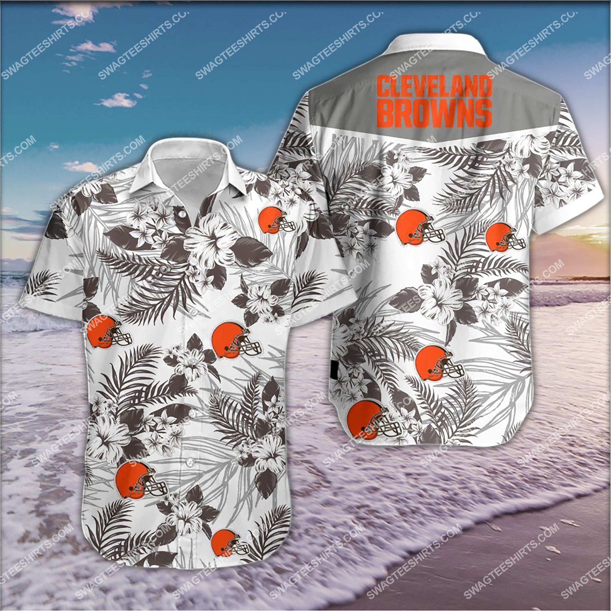 the cleveland browns team full print summer hawaiian shirt 2 - Copy (2)