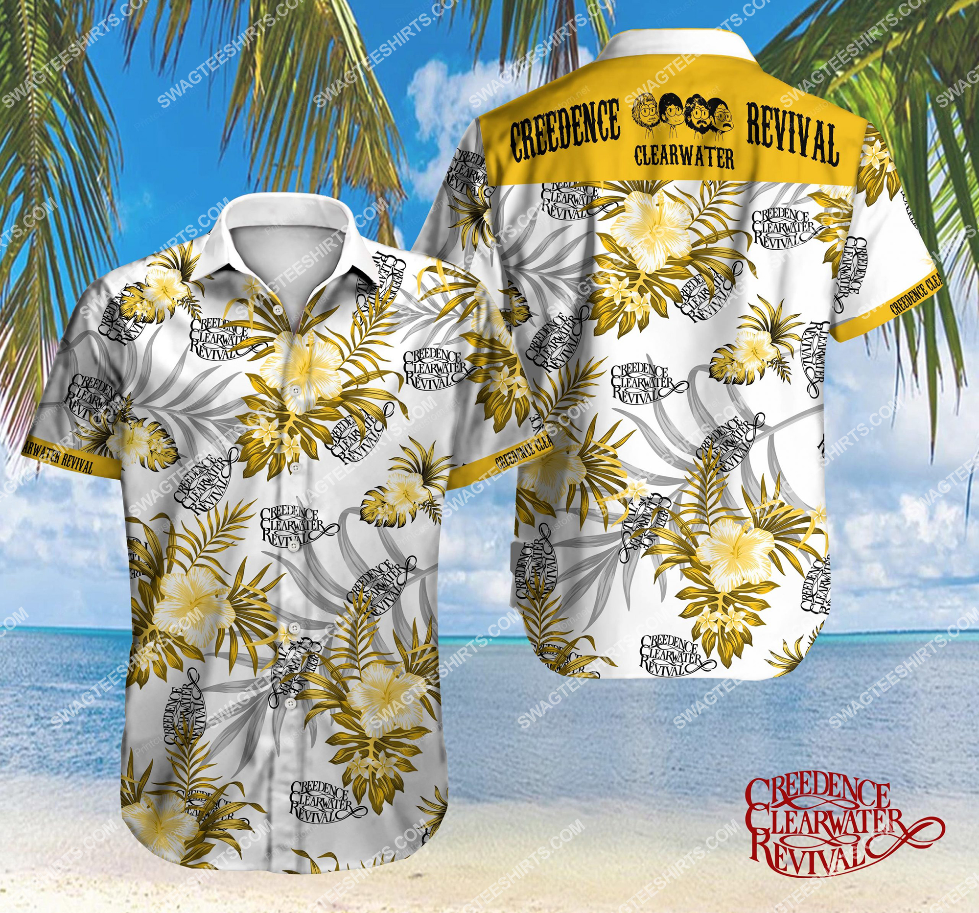 the creedence clearwater revival full printing hawaiian shirt 2 - Copy (2)