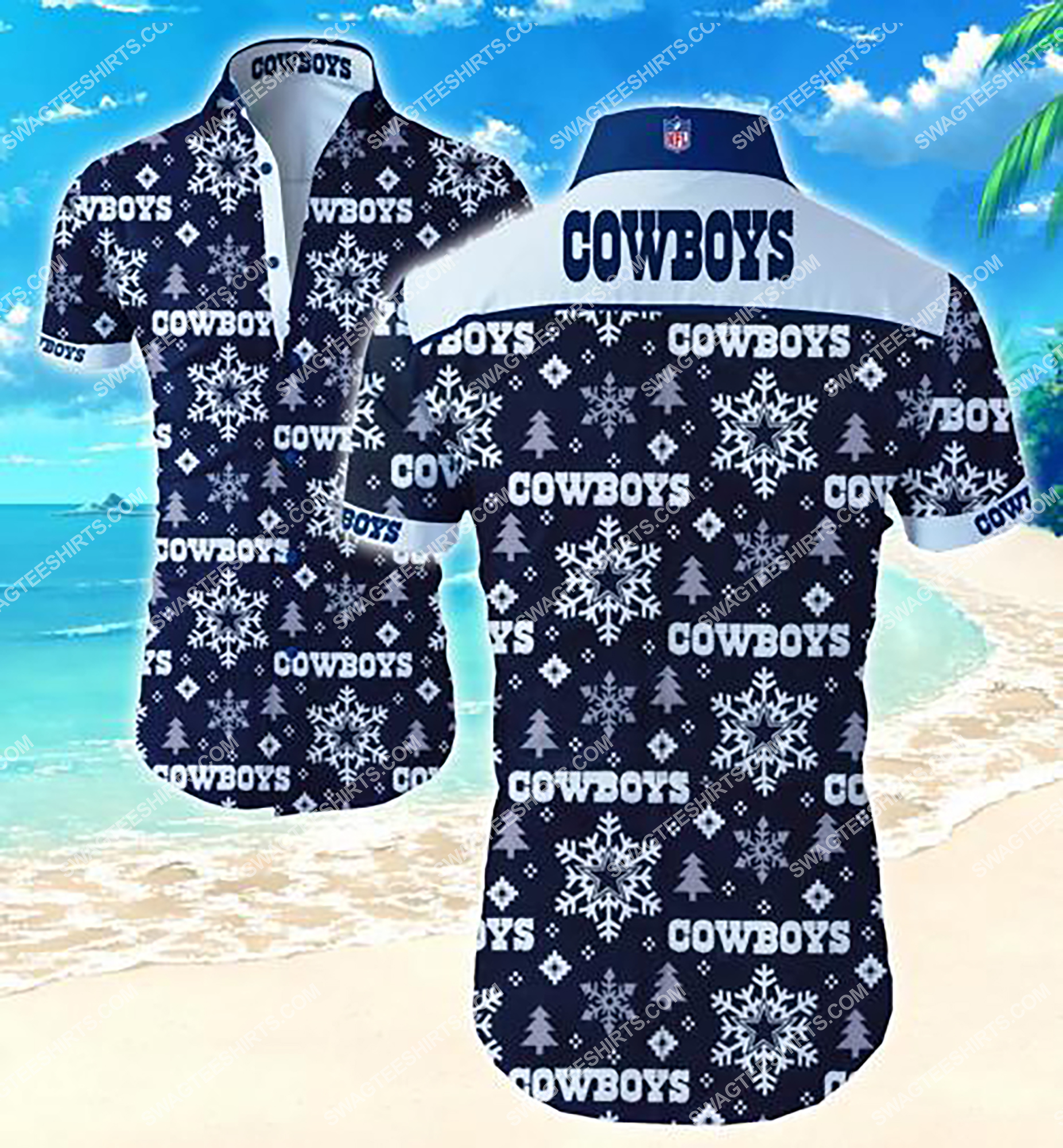 the dallas cowboys team full printing summer hawaiian shirt 2