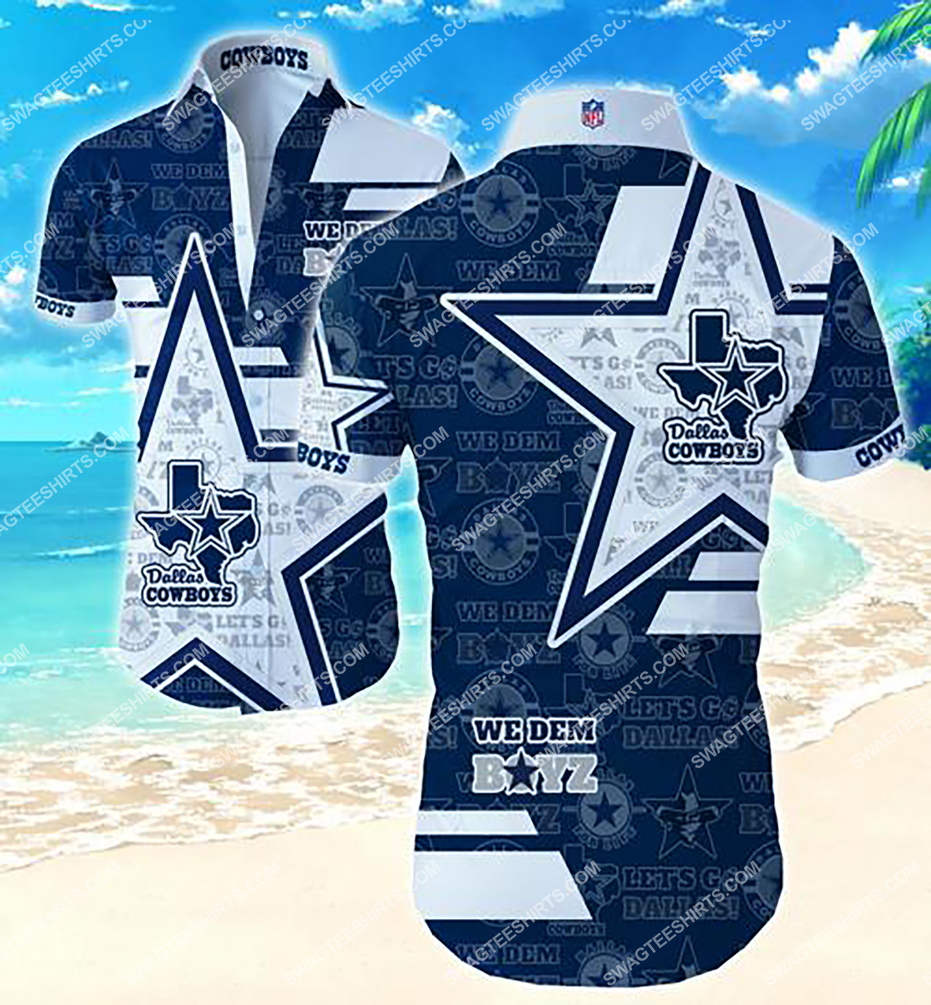 the dallas cowboys we dem boyz summer hawaiian shirt 2