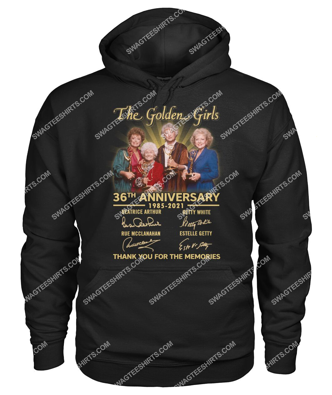 the golden girl 36th anniversary 1985 2021 thank you for the memories signatures hoodie 1