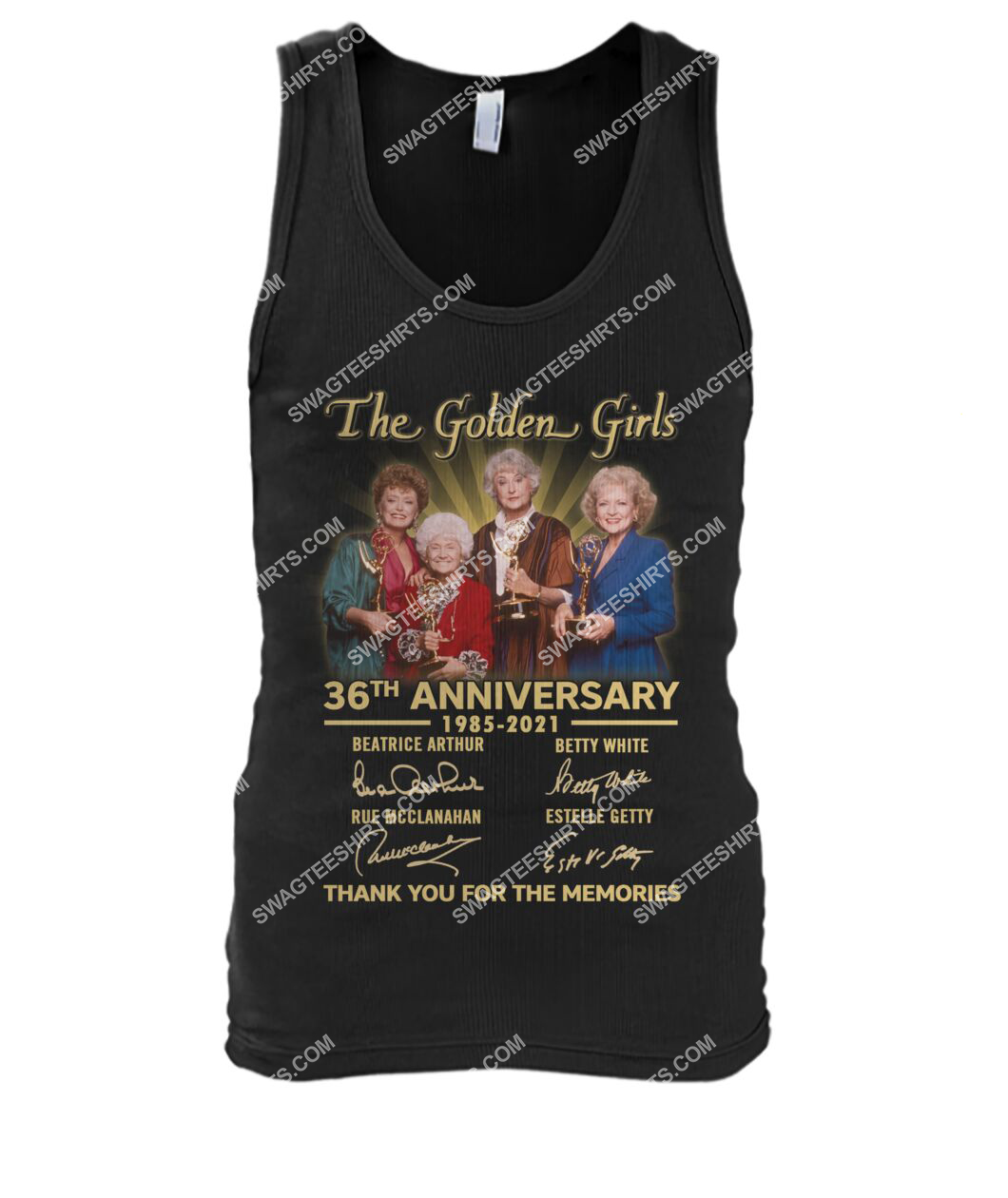the golden girl 36th anniversary 1985 2021 thank you for the memories signatures tank top 1