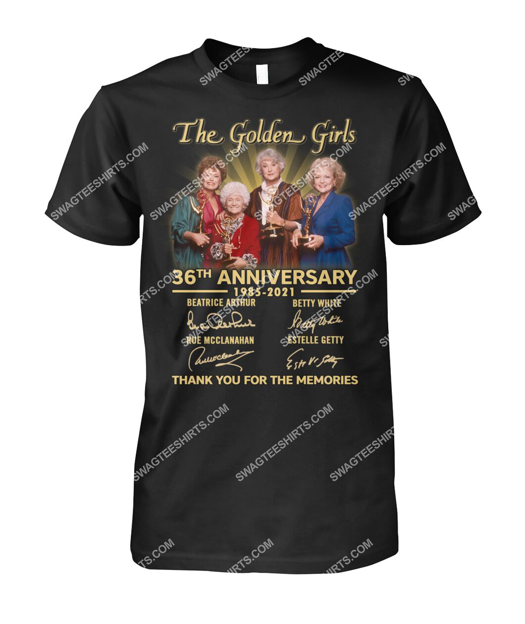 the golden girl 36th anniversary 1985 2021 thank you for the memories signatures tshirt 1