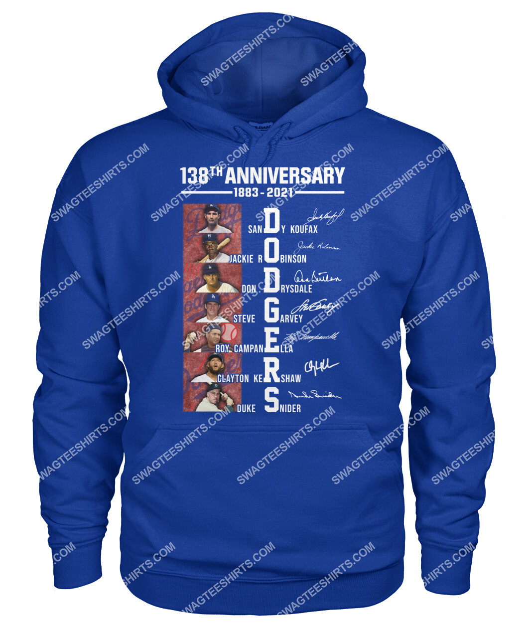 the los angeles dodgers 138th anniversary 1883 2021 signatures mlb hoodie 1