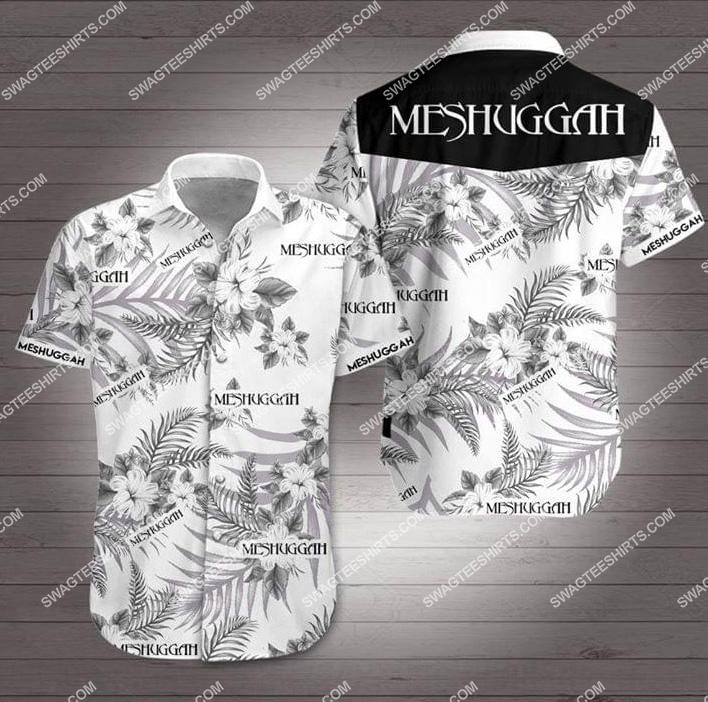 the meshuggah band all over print hawaiian shirt 1