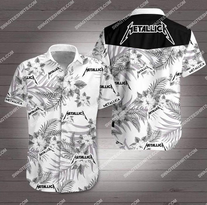 the metallica rock band all over print hawaiian shirt 1 - Copy