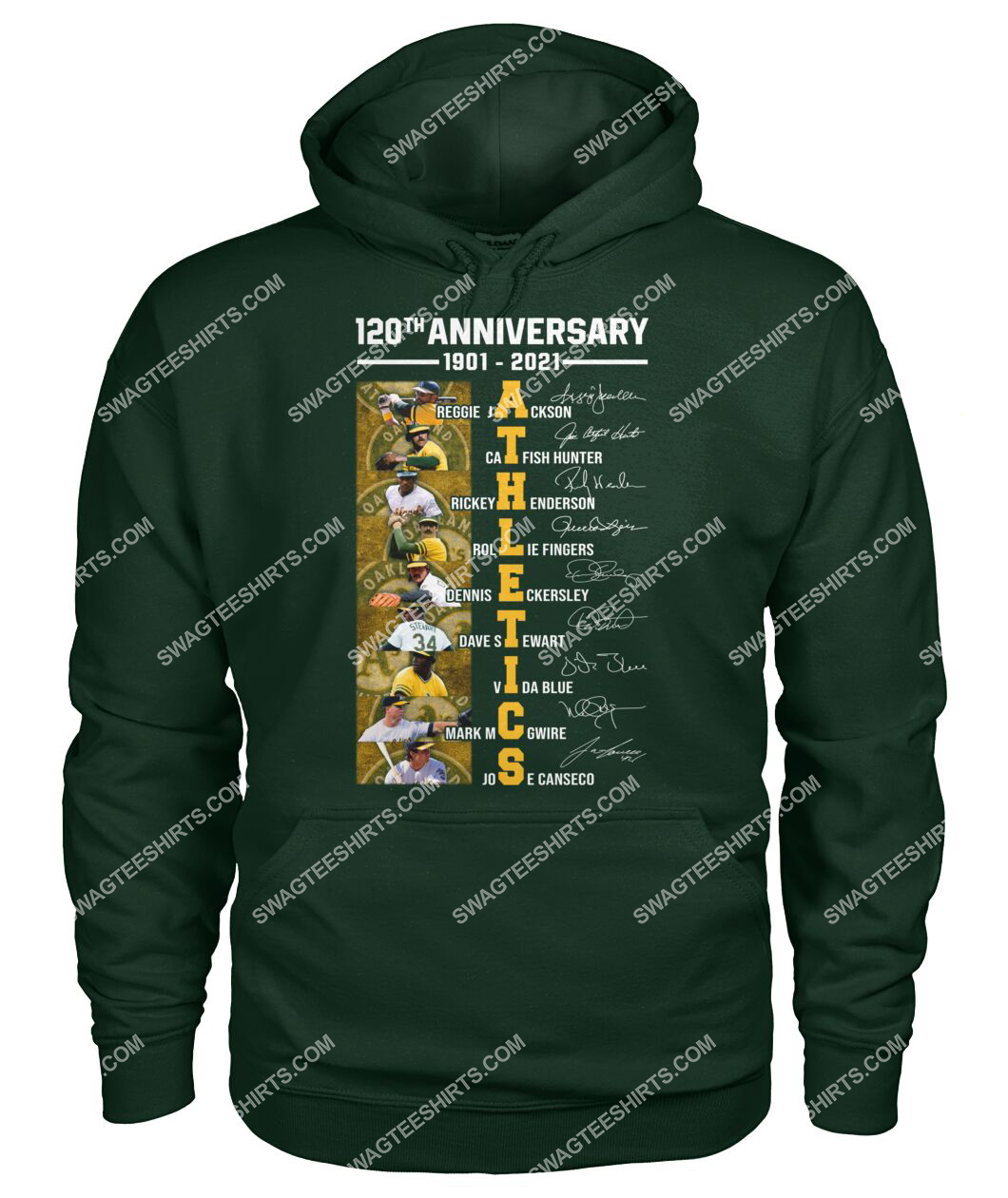 the oakland athletics 120th anniversary 1901 2021 signatures mlb hoodie 1