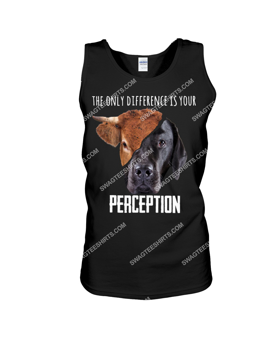 the only difference is your perception save animals tank top 1
