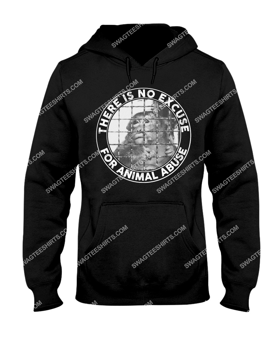 there's no excuse for animal abuse save animals hoodie 1
