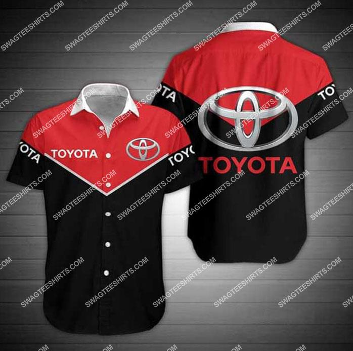 toyota symbol all over print hawaiian shirt 1
