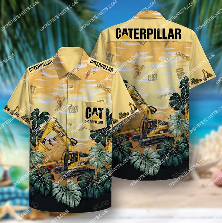 troipical caterpillar inc all over print hawaiian shirt 1