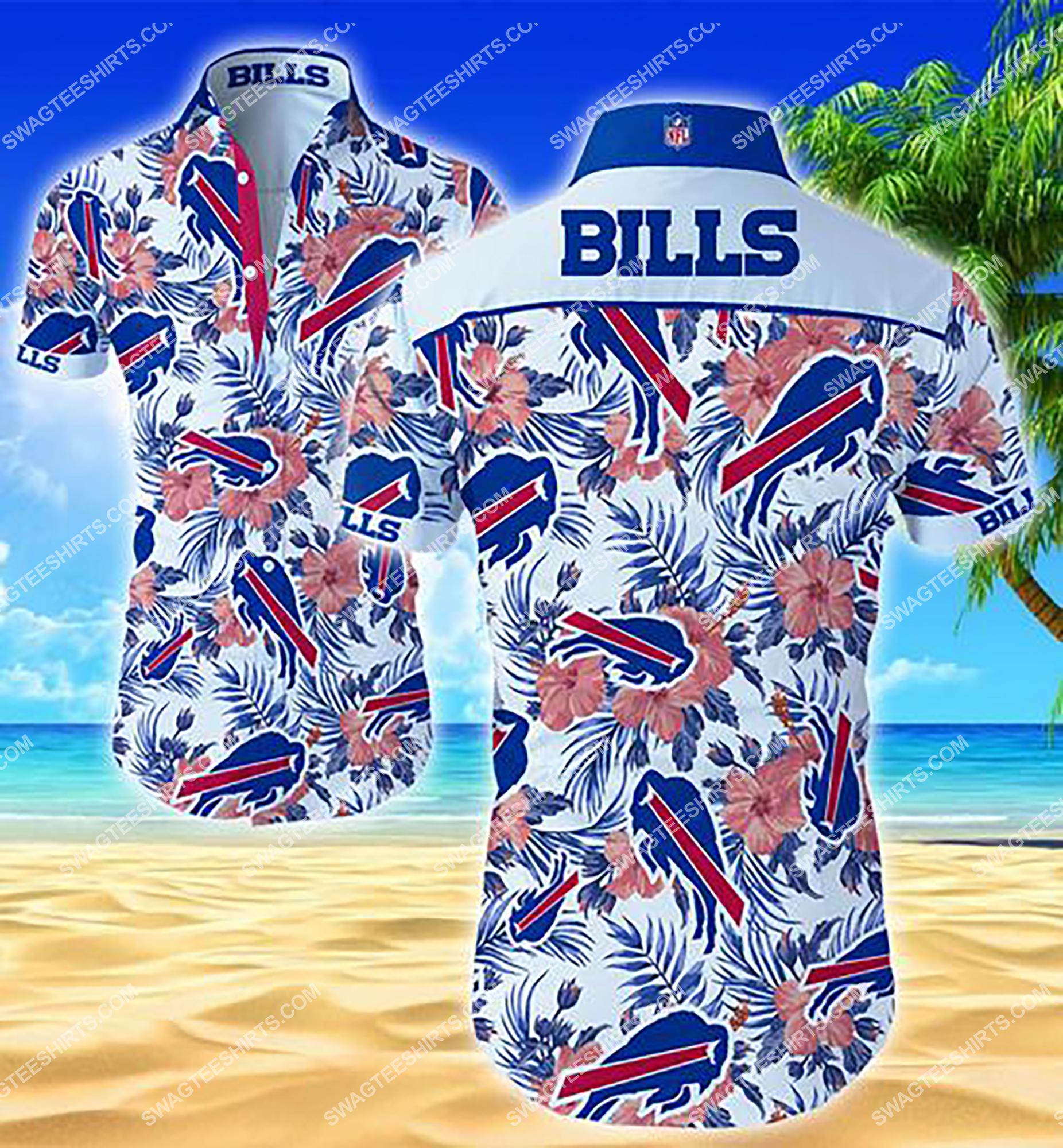 tropical buffalo bills team full printing summer hawaiian shirt 2 - Copy