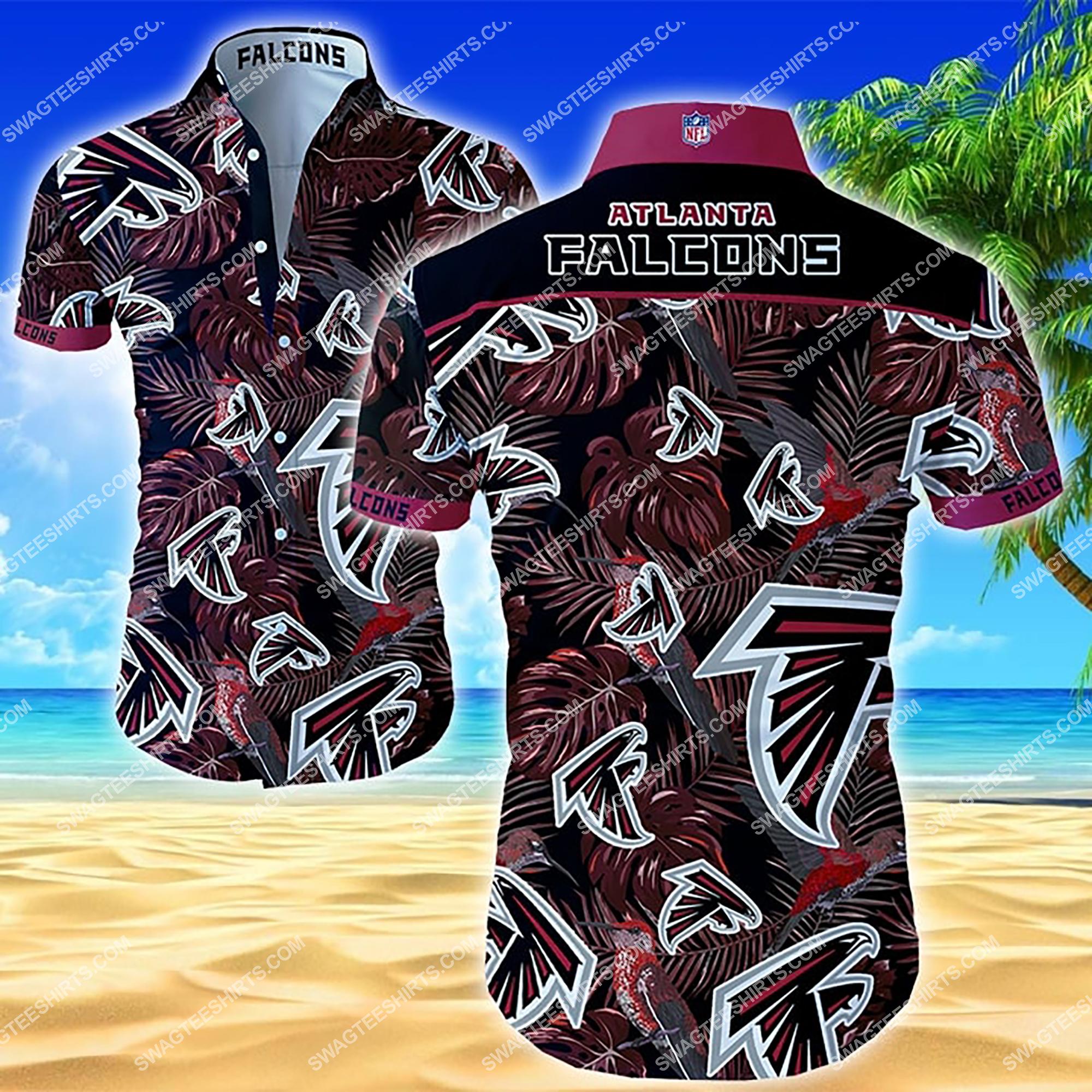 tropical flower atlanta falcons team summer hawaiian shirt 2 - Copy