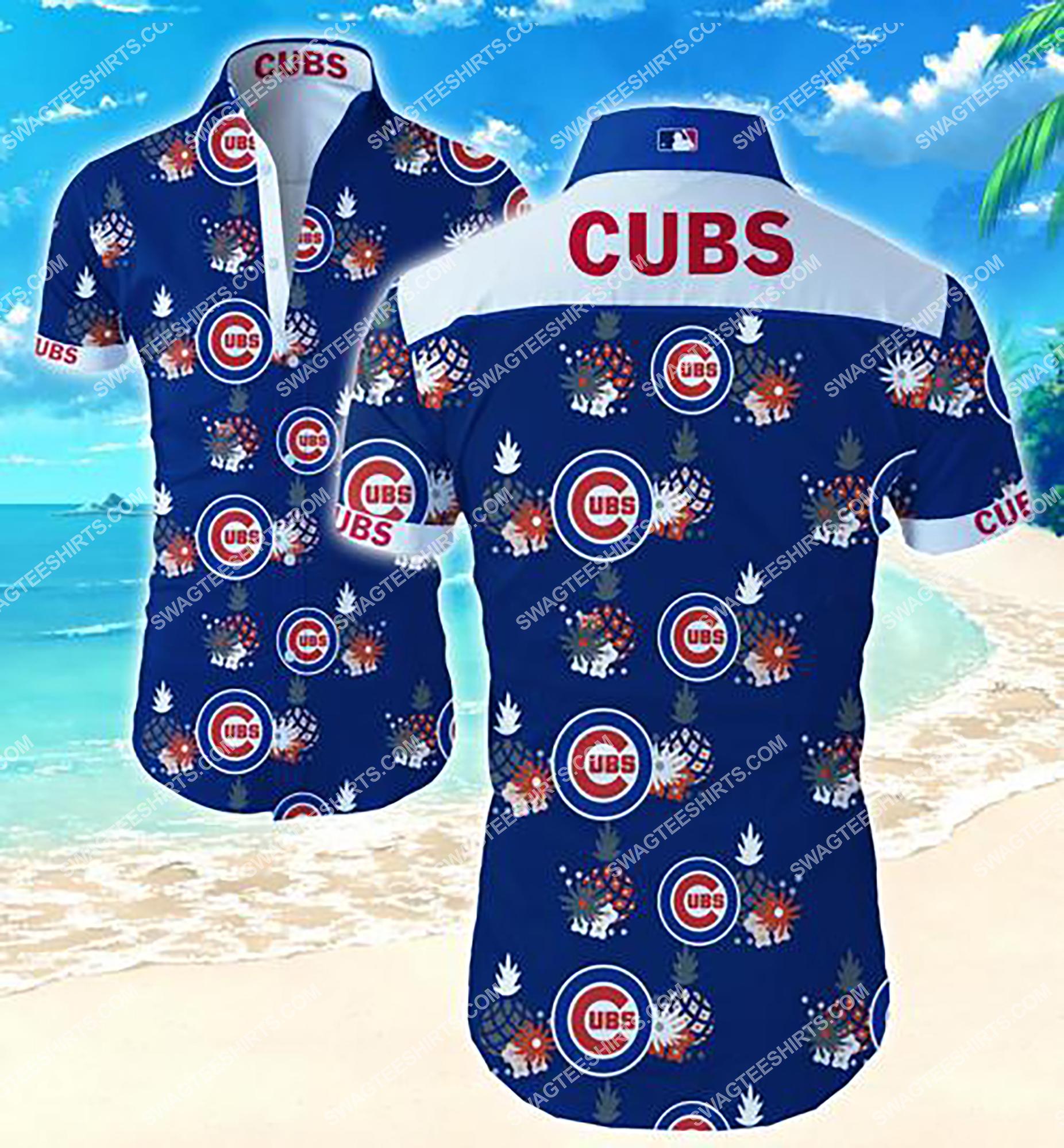 tropical flower chicago cubs team summer hawaiian shirt 2