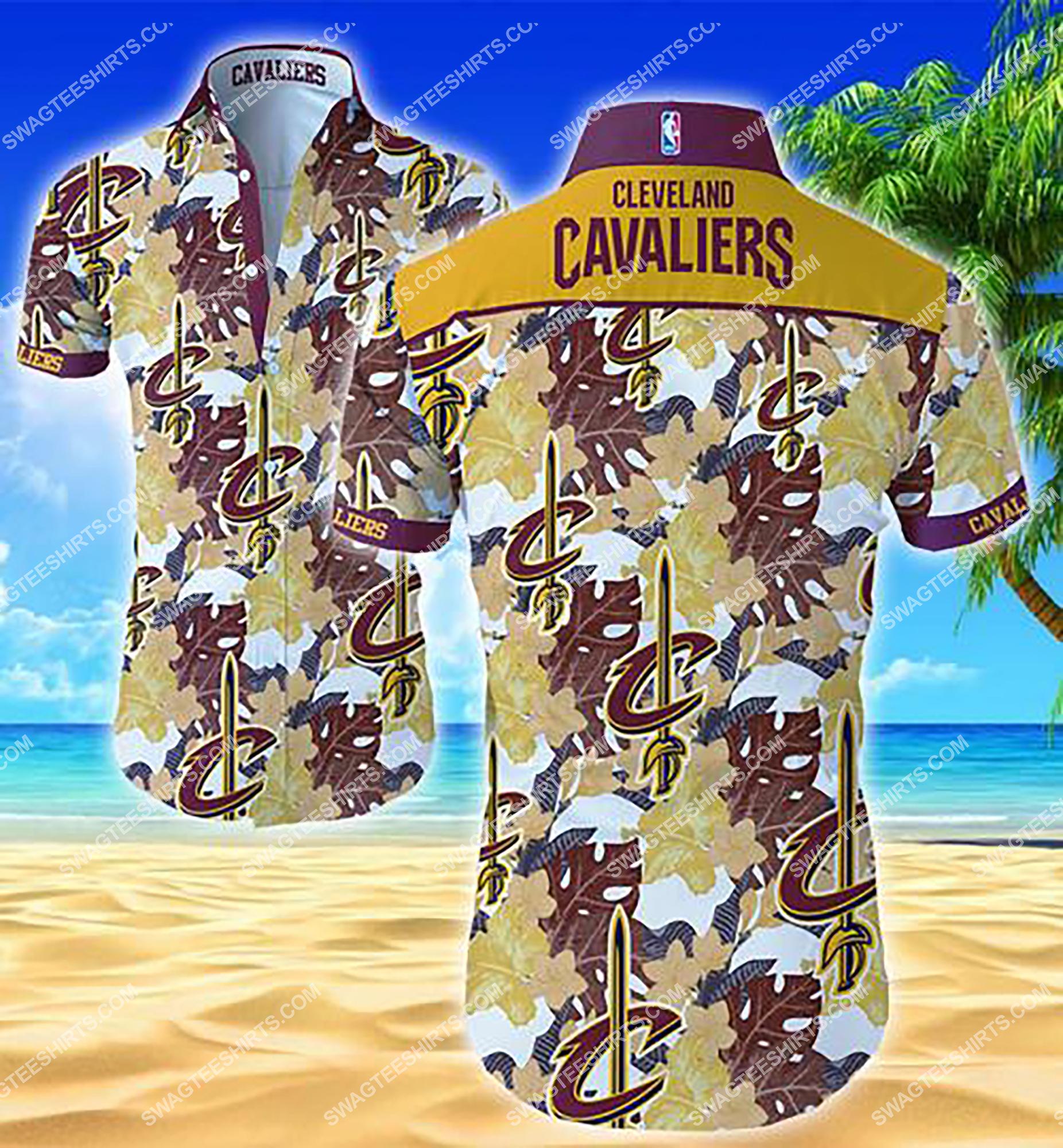tropical flower cleveland cavaliers team summer hawaiian shirt 2 - Copy