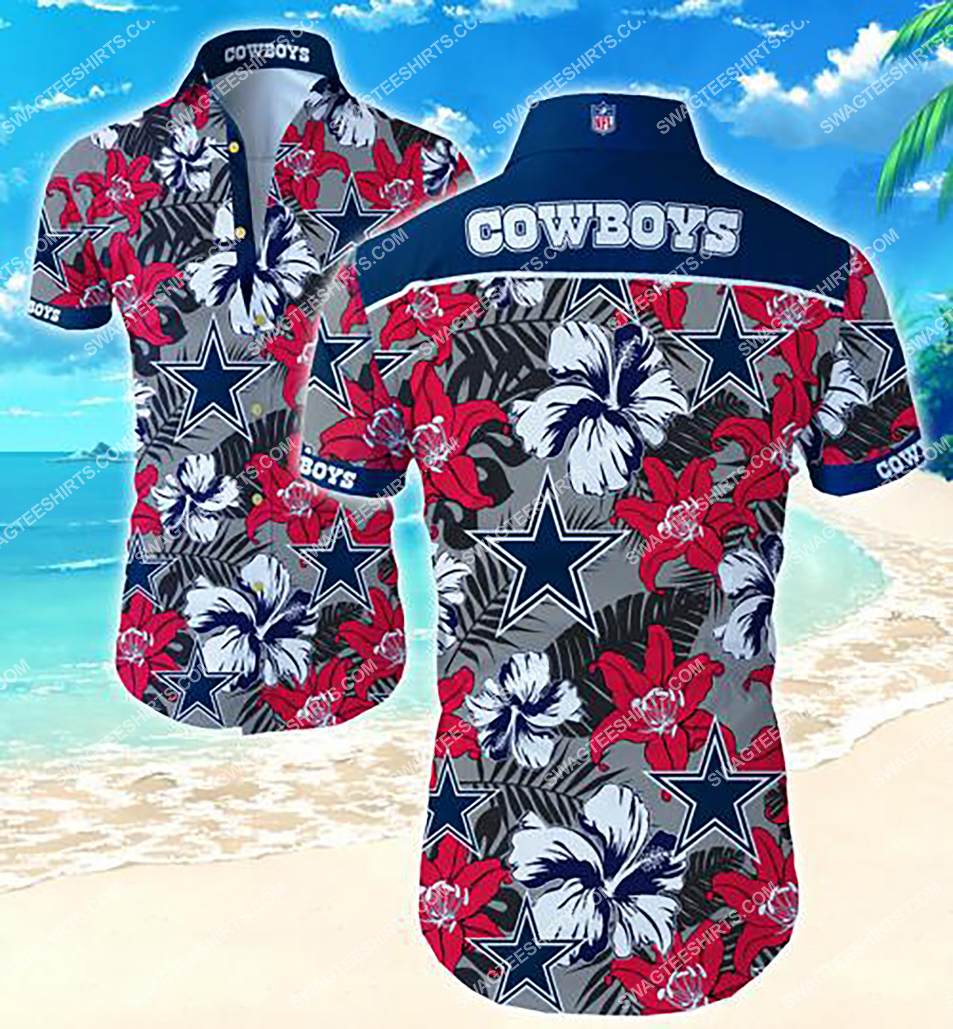 tropical flower dallas cowboys team summer hawaiian shirt 2 - Copy (2)