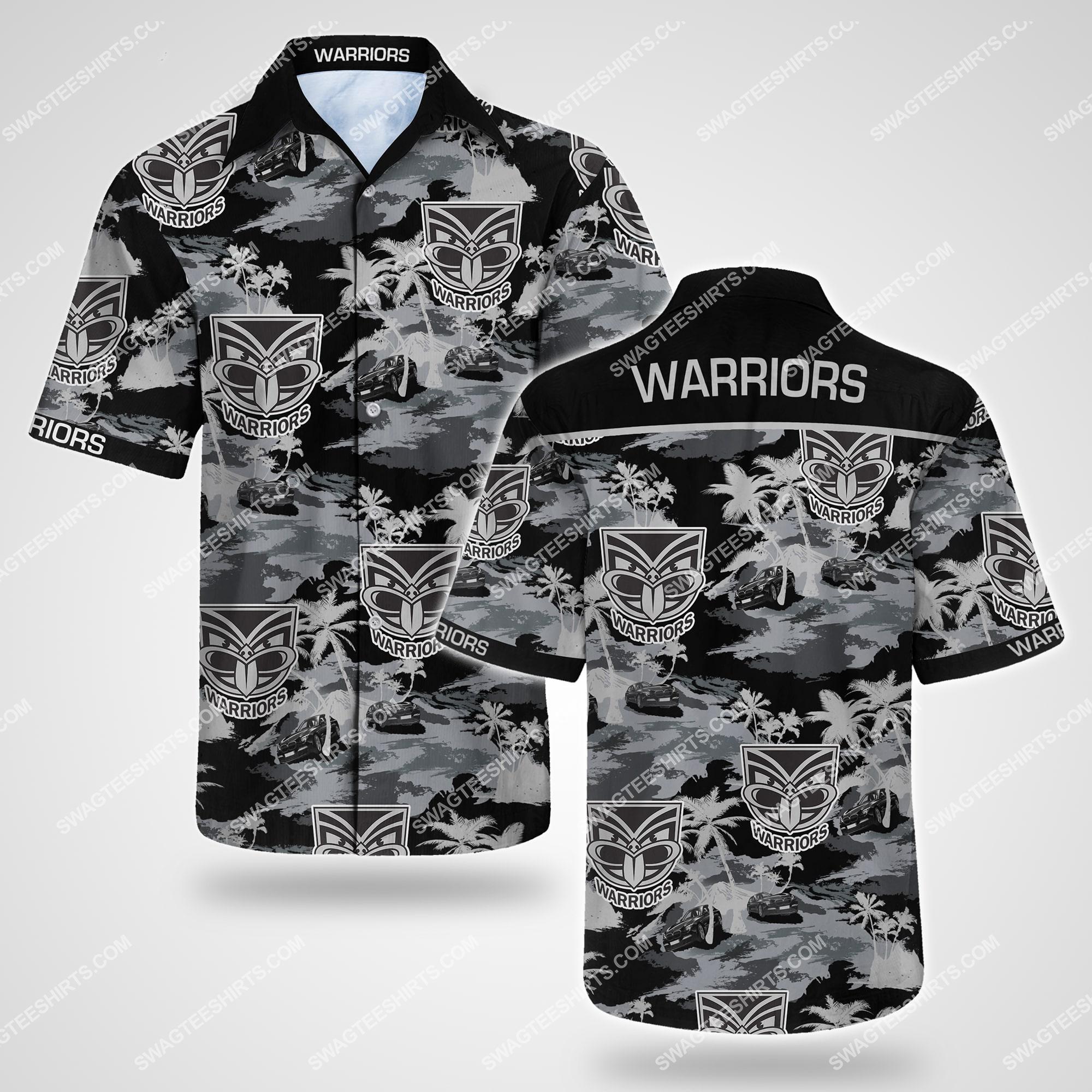 tropical flower new zealand warriors team summer hawaiian shirt 2