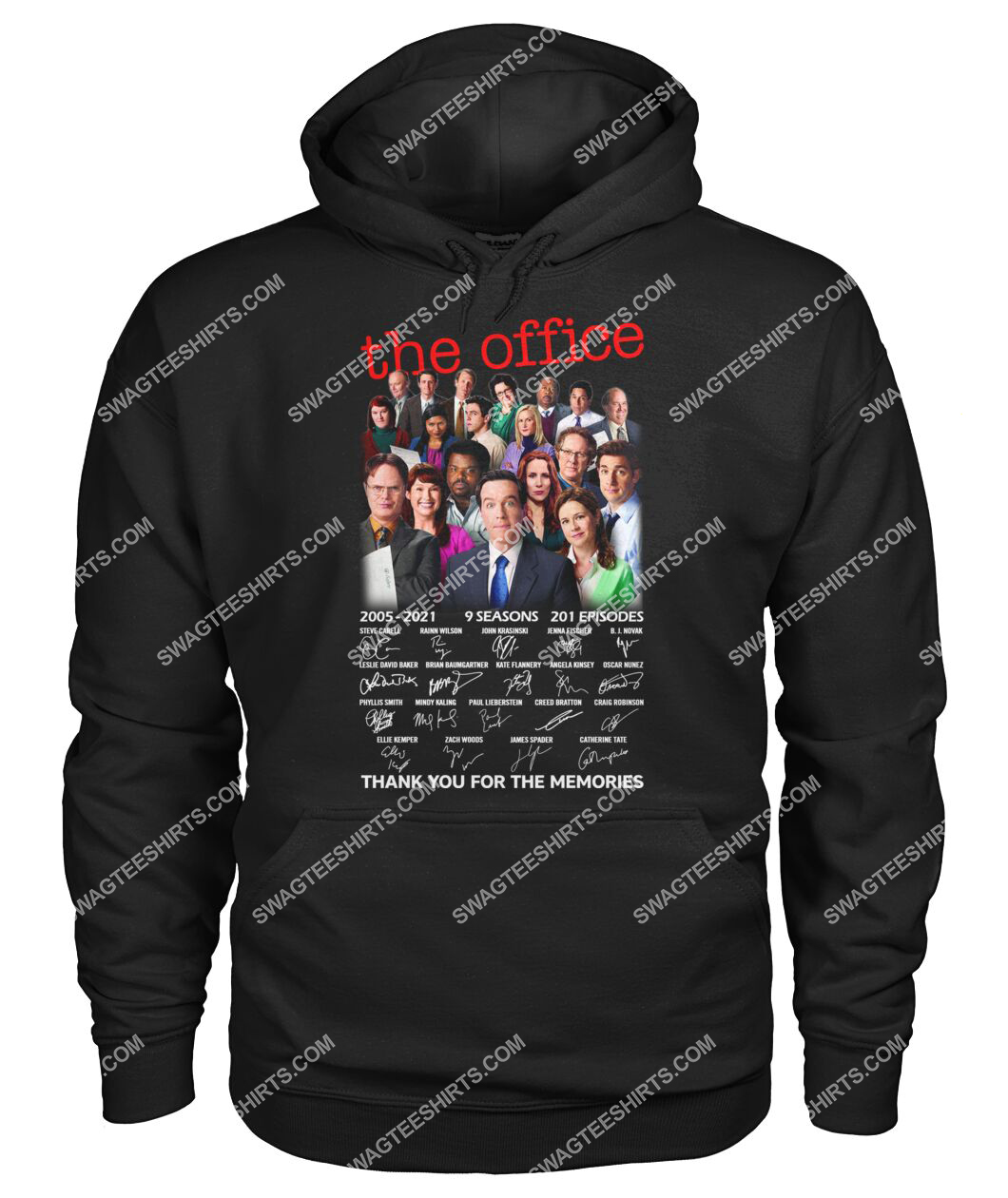 tv show the office thank you for the memories signatures hoodie 1