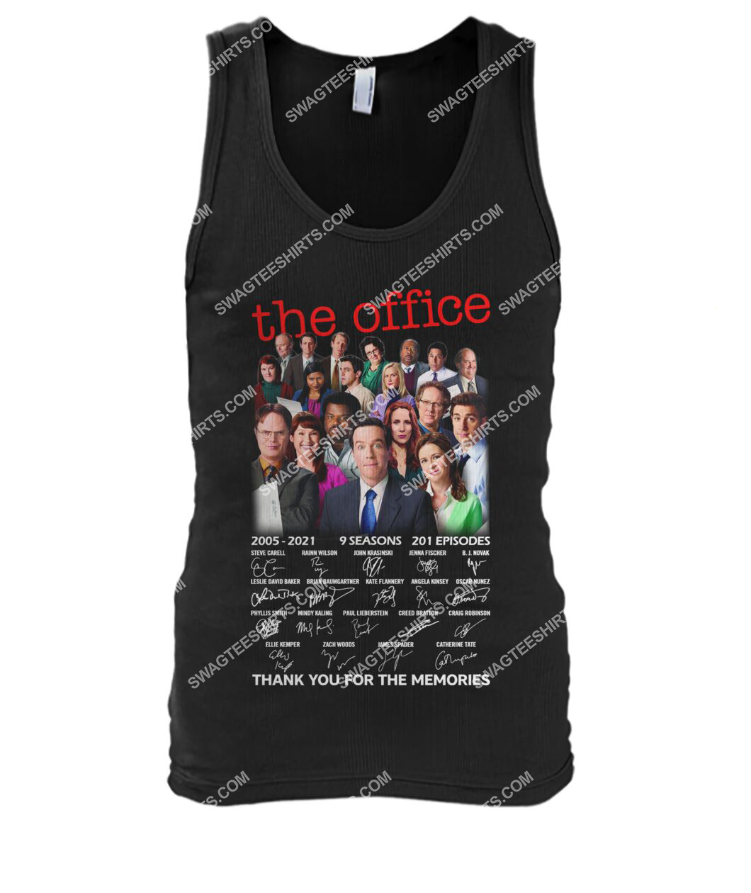 tv show the office thank you for the memories signatures tank top 1