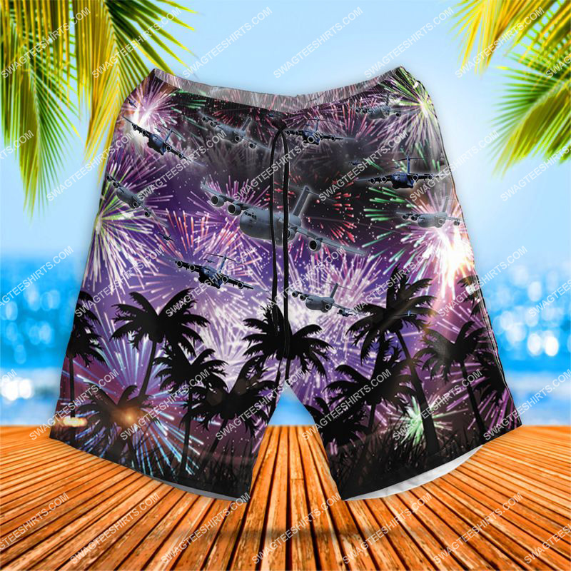 us air force boeing c-17 globemaster iii all over print shorts 1