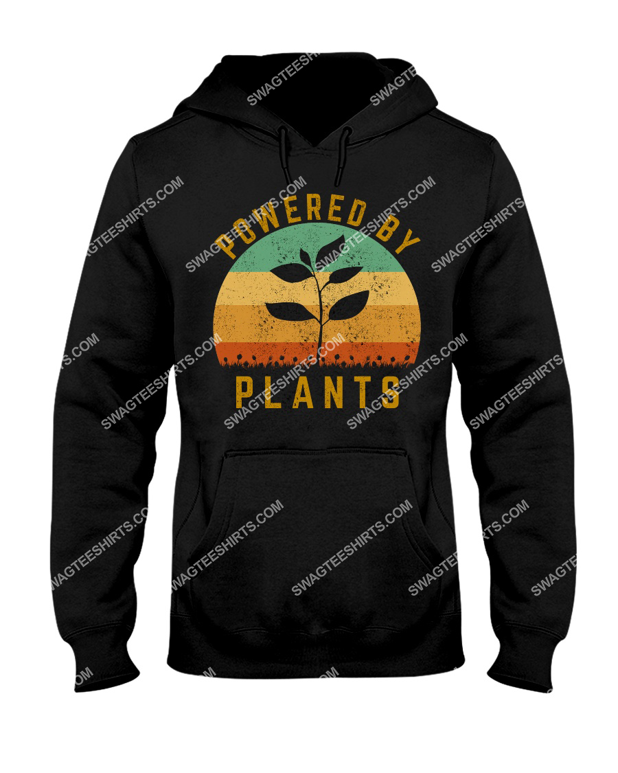 vintage powered by plants save the earth hoodie 1