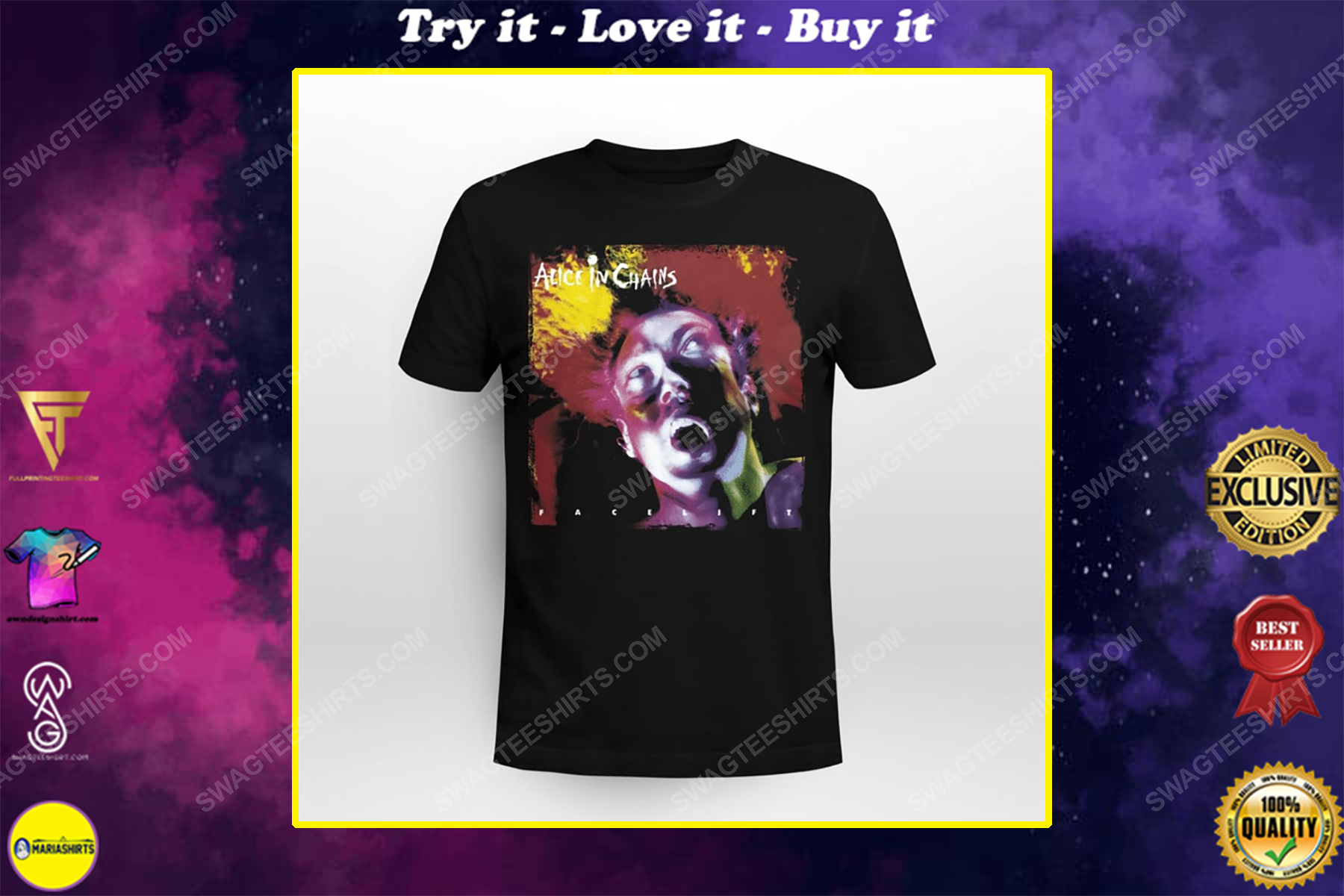 American rock band alice in chains facelift shirt