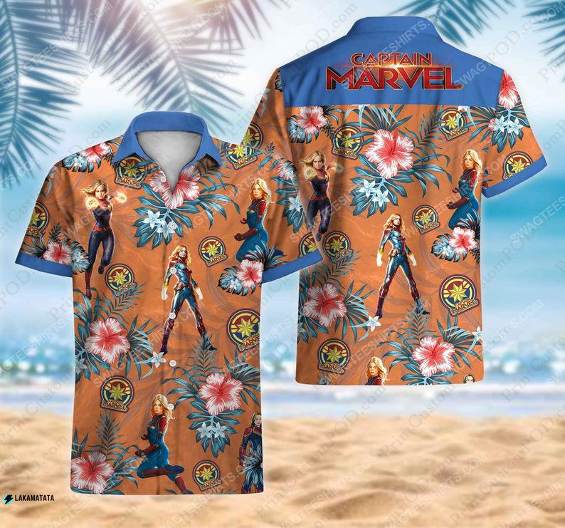 Captain america avengers disney marvel movie hawaiian shirt 1