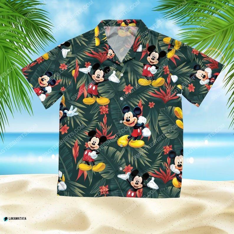 Mickey mouse disney cartoon movie hawaiian shirt 1