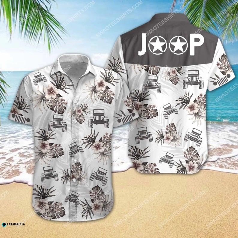 Tropical jeep car summer vacation hawaiian shirt 1 - Copy (2)