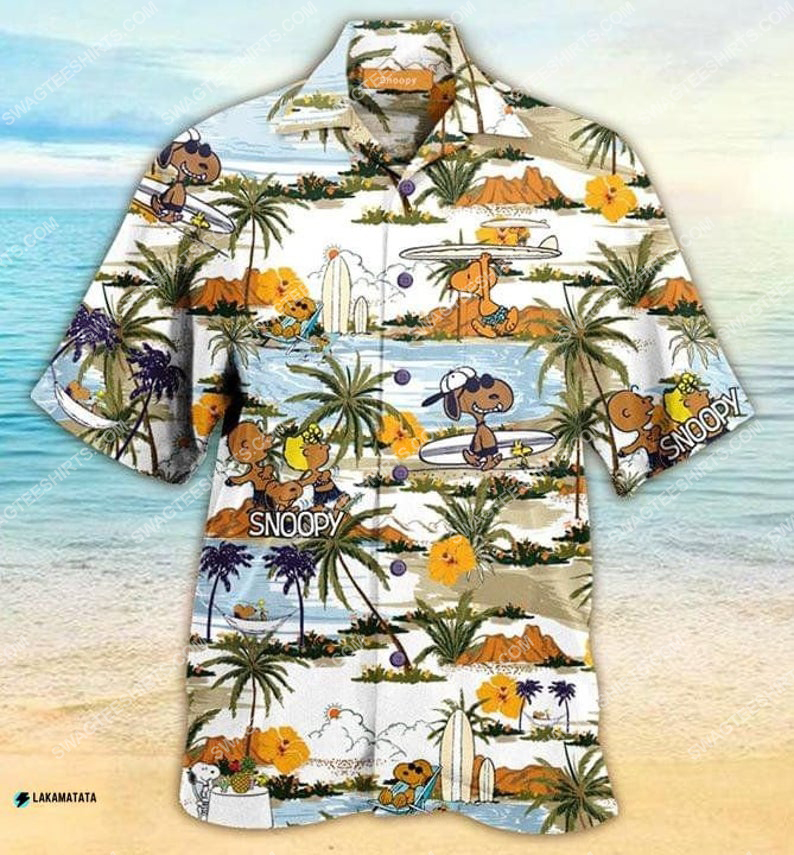 Tropical snoopy and friends summer vibe hawaiian shirt 1 - Copy
