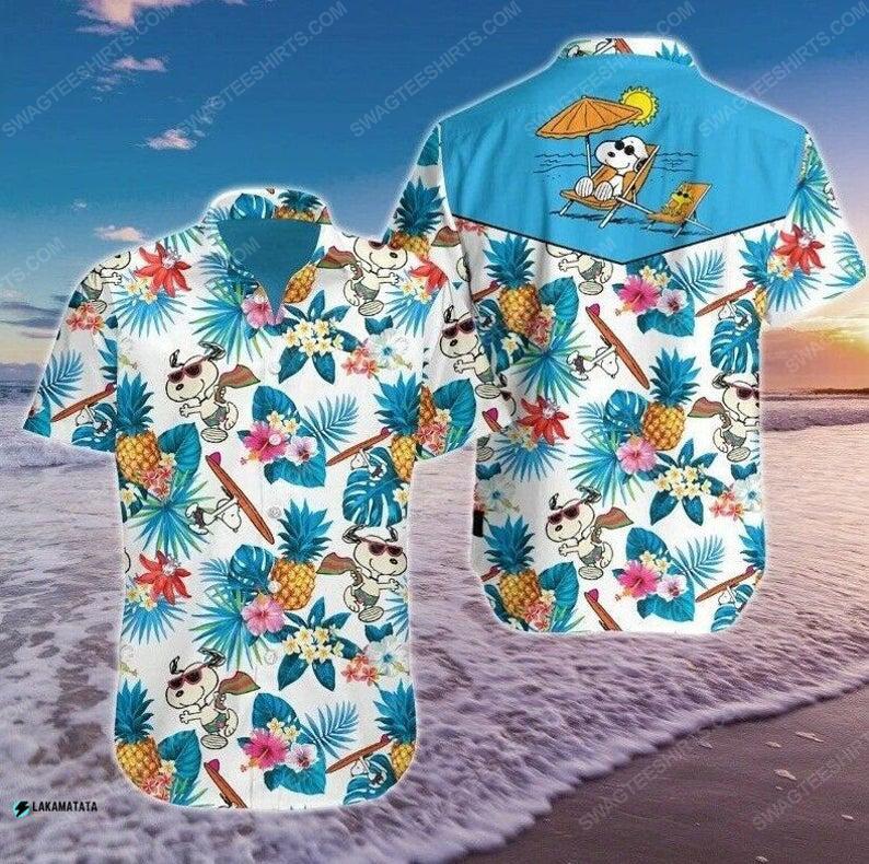 Tropical snoopy cartoon movie disney hawaiian shirt 1 - Copy