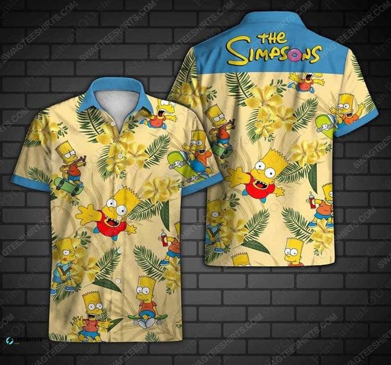 Tropical the simpsons family cartoon disney hawaiian shirt 1 - Copy (2)