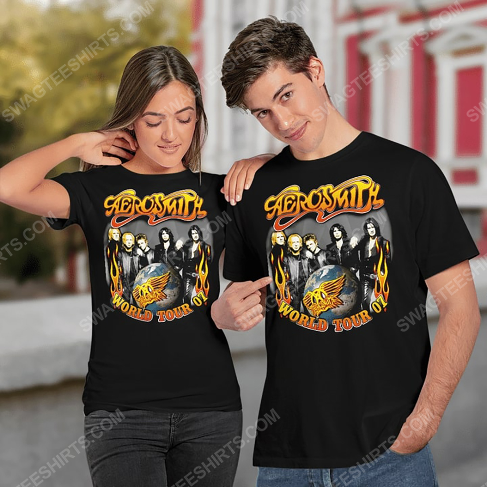 Vintage rock band aerosmith world tour 2007 shirt 3(1)