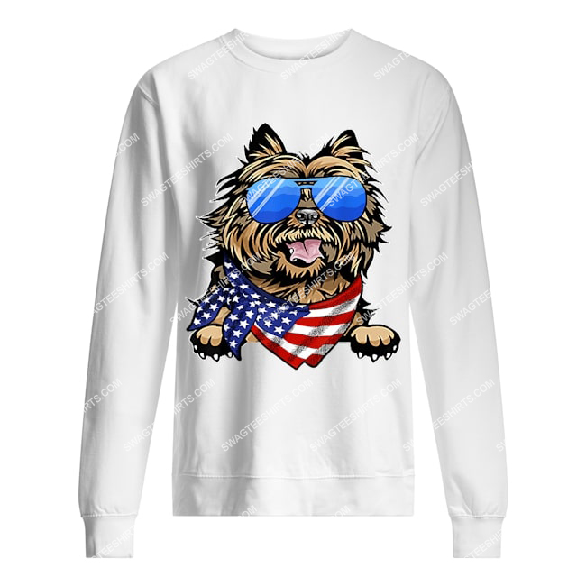 american cairn terrier usa flag 4th of july happy independence day sweatshirt 1
