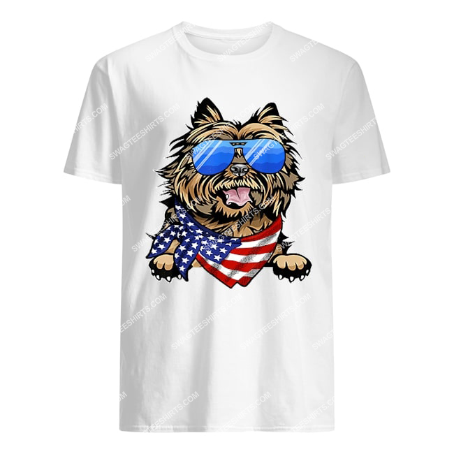 american cairn terrier usa flag 4th of july happy independence day tshirt 1