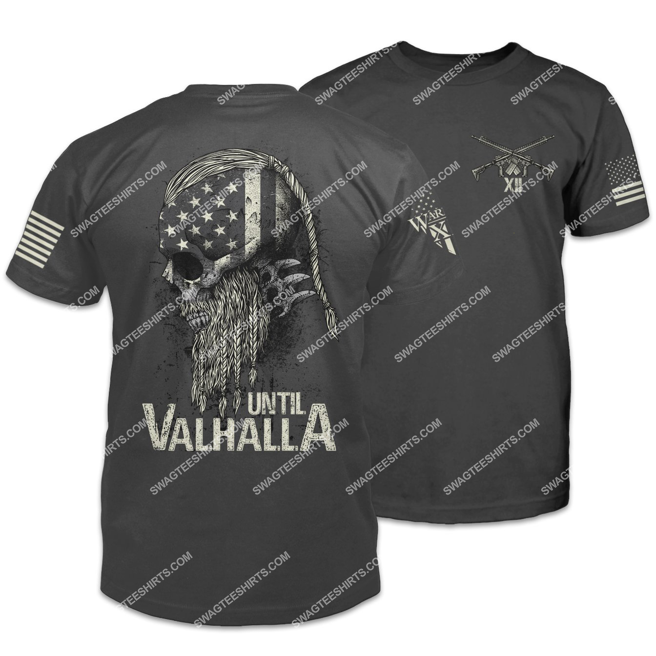 american flag until valhalla warrior viking shirt 2(1) - Copy