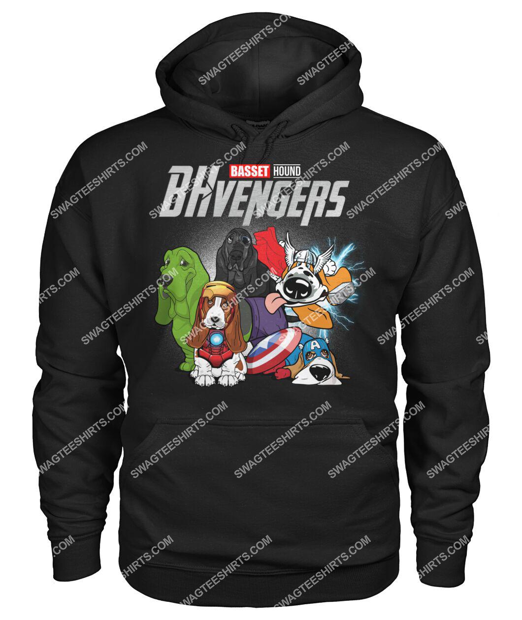 basset hound bhvengers marvel avengers dogs lover hoodie 1