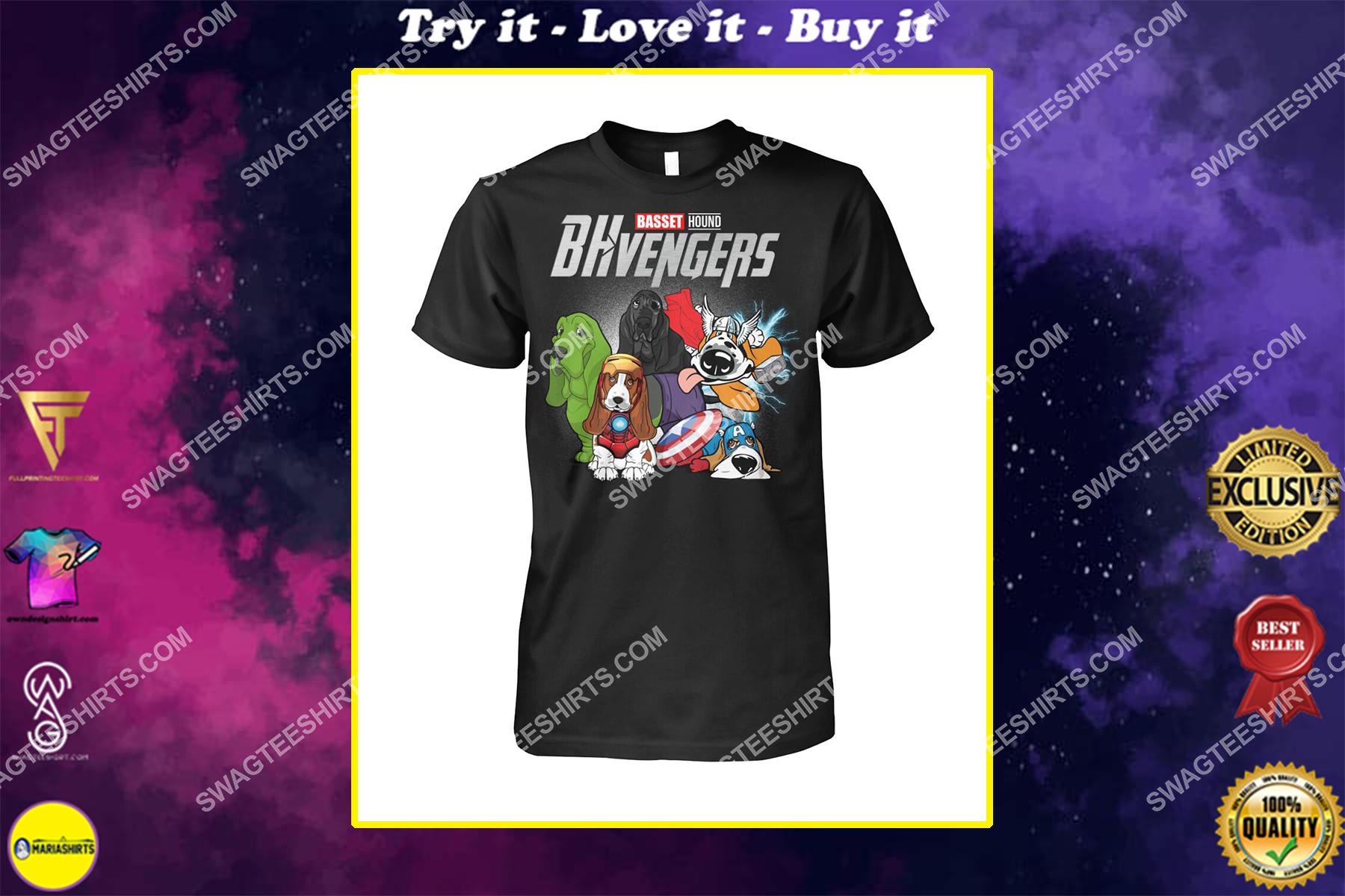 basset hound bhvengers marvel avengers dogs lover shirt