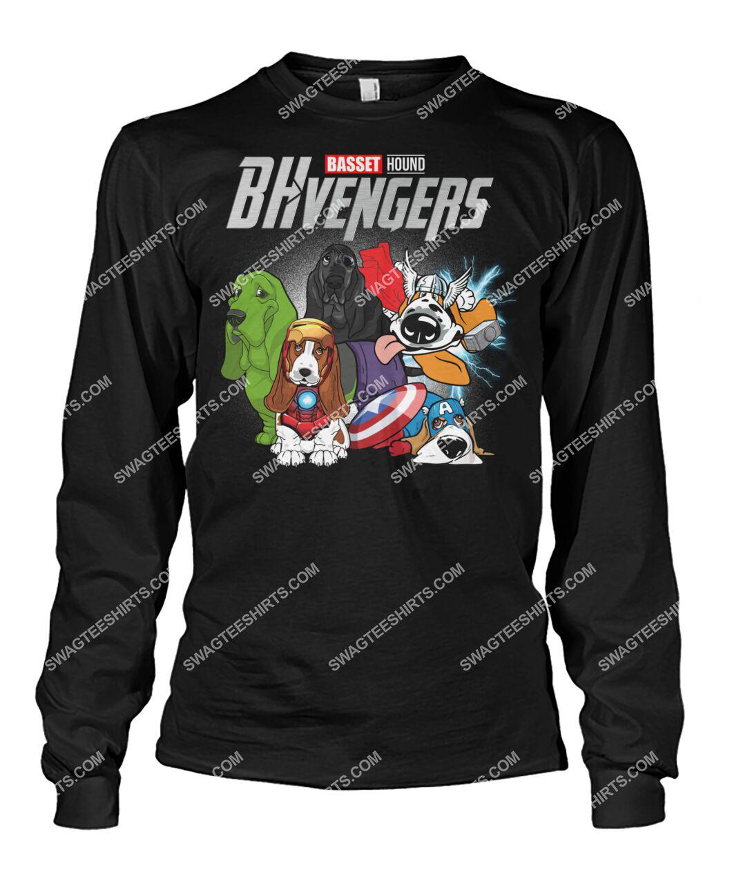 basset hound bhvengers marvel avengers dogs lover sweatshirt 1