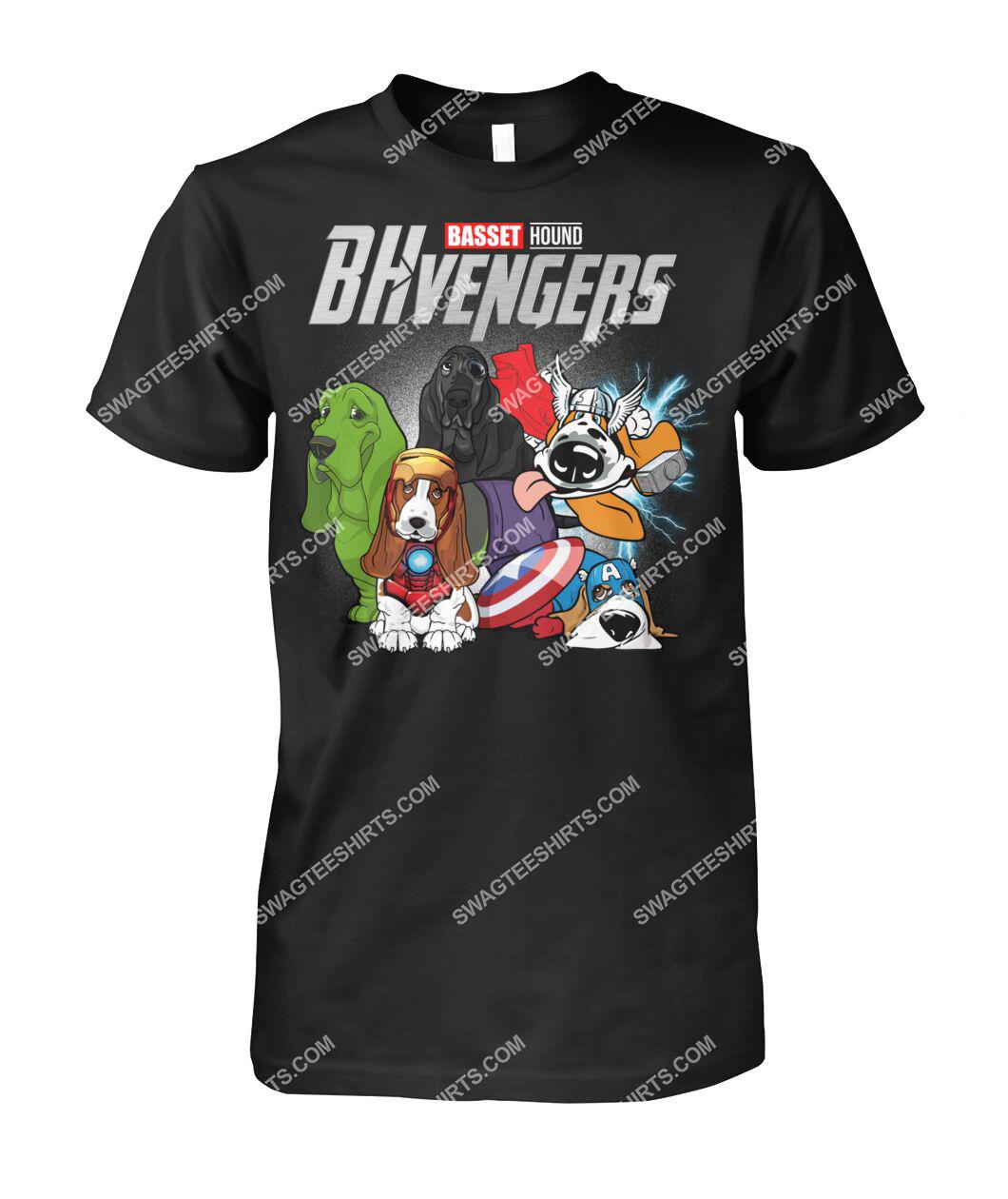 basset hound bhvengers marvel avengers dogs lover tshirt 1