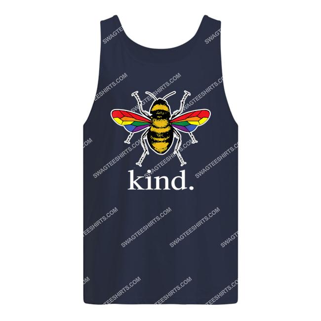 bee kind lgbtq ally gay pride rainbow bumblebee positivity tank top 1