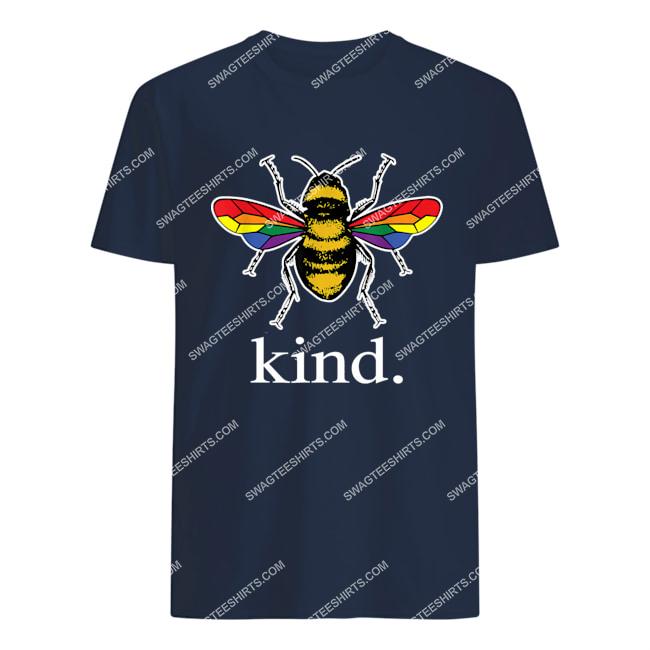 bee kind lgbtq ally gay pride rainbow bumblebee positivity tshirt 1