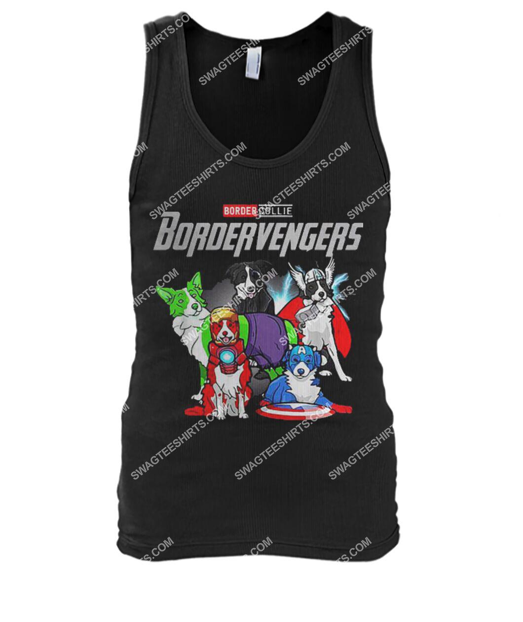 border collie bordervengers marvel avengers dogs lover tank top 1