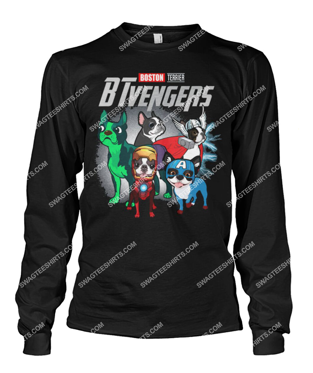 boston terrier btvengers marvel avengers dogs lover sweatshirt 1