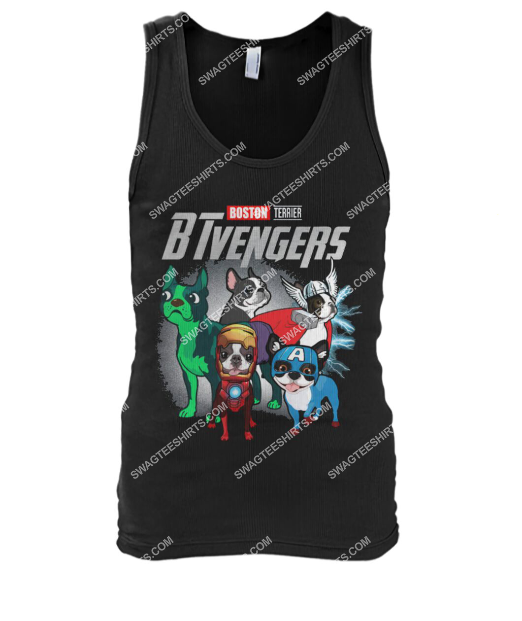 boston terrier btvengers marvel avengers dogs lover tank top 1